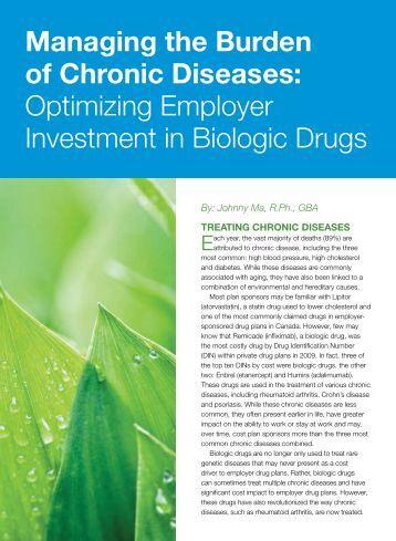 Managing the Burden of Chronic Diseases ... - Benefits Canada