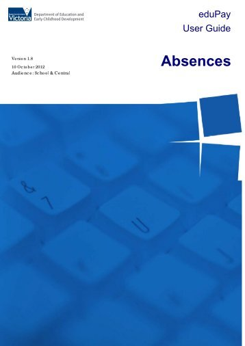 Absences - Department of Education and Early Childhood ...