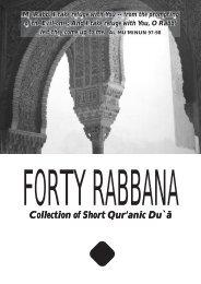 40 Rabbana Duas - Jamia Islamia Canada