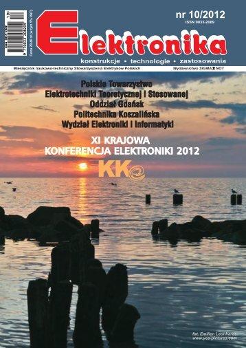 Elektronika 2012-10 I.pdf - Instytut Systemów Elektronicznych ...