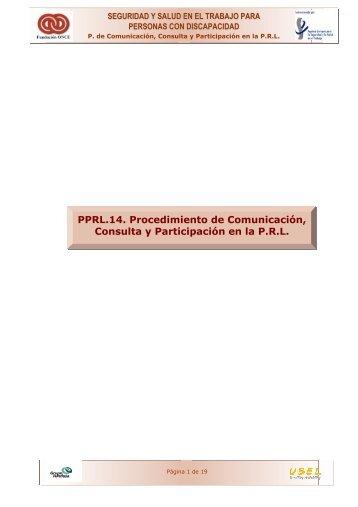 Procedimiento de Comunicación, Consulta y Participación en la