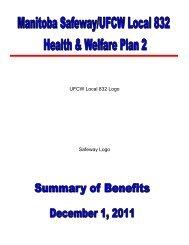 Plan 2 Summary of Benefits - UFCW, Local 832