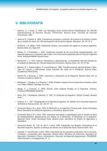 V. BIBLIOGRAFÍA - Instituto Interamericano de Cooperación para la ...