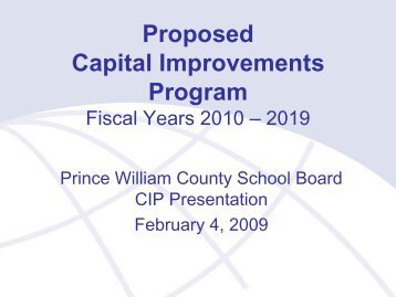 Proposed Capital Improvements Program - Prince William County ...
