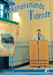 Lokomotivmands Tidende nr. 4, 2007 - Norsk Lokomotivmannsforbund