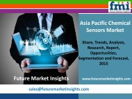 Chemical Sensors Market: Asia Pacific Industry Analysis and Forecast Till 2025 by Future Market Insights