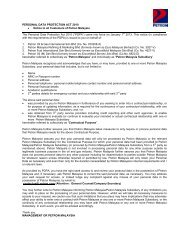 PERSONAL DATA PROTECTION ACT 2010 • Notice to all ... - Petron