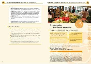 D : Alimentation et services de restauration - Procura+ Campaign