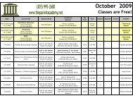 October 2009 Classes Are Free! - The Parent Academy
