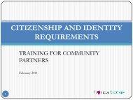 CITIZENSHIP AND IDENTITY VERIFICATION - The Parent Academy