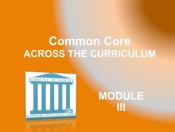 Common Core - The Parent Academy
