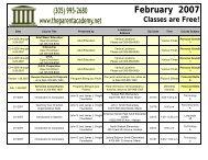 February 2007 - The Parent Academy