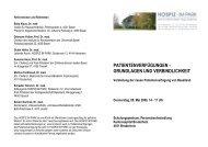 patientenverfügungen - grundlagen und ... - Hospiz im Park