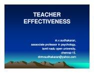 TEACHER EFFECTIVENESS