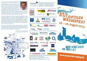 16. – 18. August 2013 - Leipziger Wasserfest