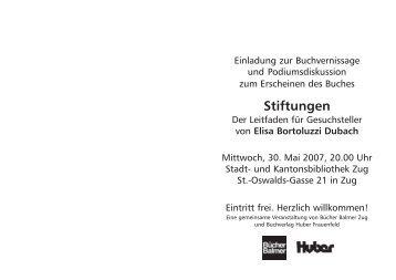 Stiftungen - Elisa Bortoluzzi Dubach