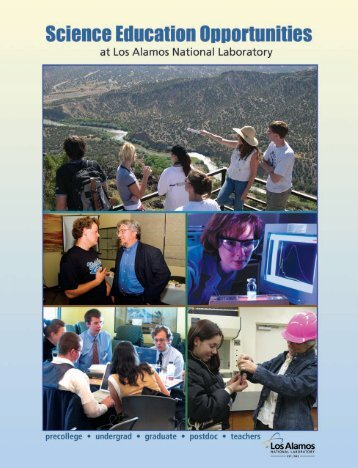 Science Education Opportunities (pdf) - Los Alamos National ...