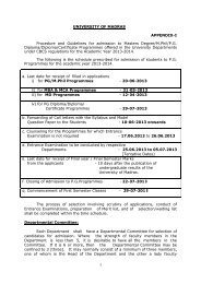 Admission to Post Graduate and M.Phil Programmes under CBCS ...
