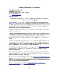 Press Release - Global Education Office - Virginia Commonwealth ...