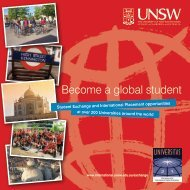 Become a global student - UNSW International