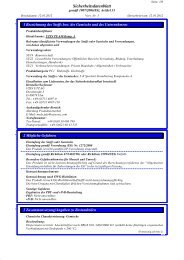Sicherheitsdatenblatt - allfloors