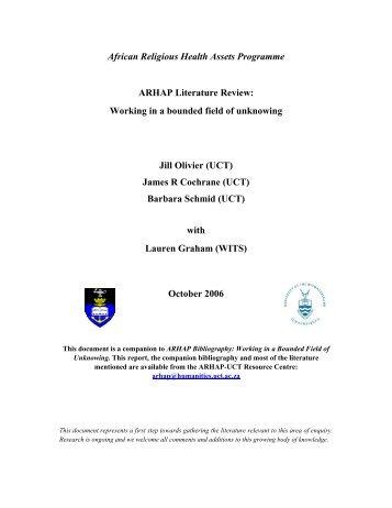 Literature Review - University of Cape Town