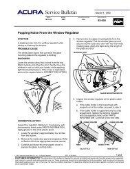 TSB Popping Noise From the Window Regulator - Dali Racing