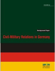 Civil Military Relations in Germany - Background Paper ... - PILDAT
