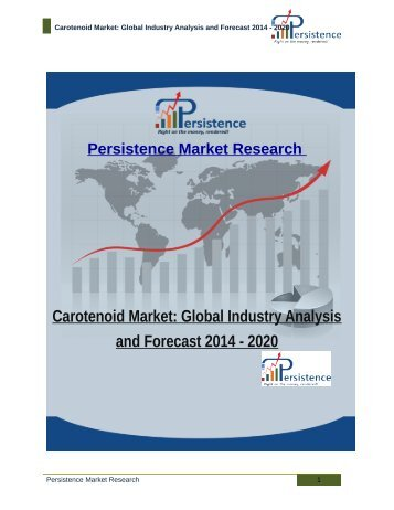 Carotenoid Market: Global Industry Analysis and Forecast 2014 - 2020