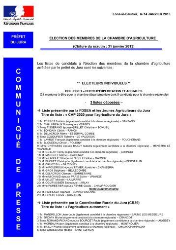 P v lections du d l gu du personnel membres titulaires - Chambre d agriculture de vendee ...
