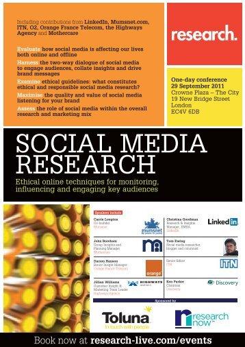 SOCIAL MEDIA RESEARCH - Research-live.com