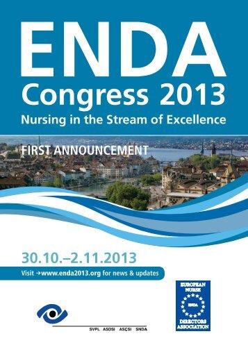 First Announcement - ENDA Congress 2013!