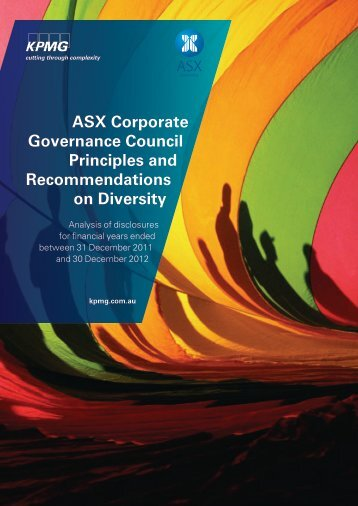 ASX Corporate Governance Council Principles and ... - ASX Group