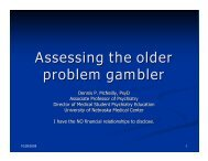 Assessing the older problem gambler - 1-888-betsoff