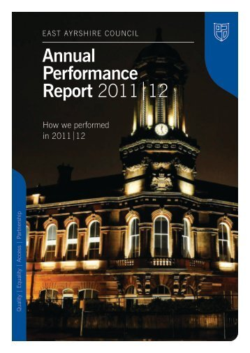 Annual Performance Report 2011|12 - East Ayrshire Council
