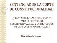 LA SENTENCIA DE AMPARO - Corte de Constitucionalidad