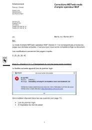 MSTweb Correction Mode d'emploi MUF