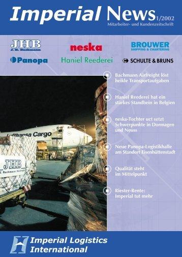 IMPERIAL News Ausgabe 01/2002 - Imperial Logistics International
