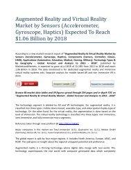 Augmented Reality & Virtual Reality Market