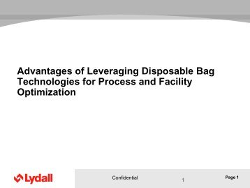 Advantages of Leveraging Disposable Bag Technologies for ...