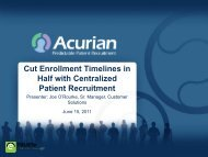 Cut Enrollment Timelines in Half with Centralized Patient Recruitment