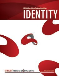 RRCSA Identity Guide - Red River College Students