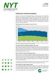 Nyt: Efterløn 3. kvt. 2010 - Danmarks Statistik