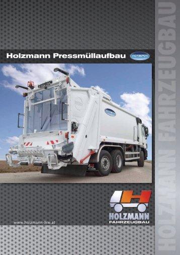 Pressmüllaufbau OLYMPUS von 10 - 27m3 - Holzmann