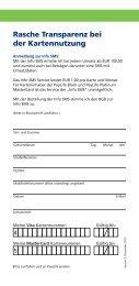 Info SMS Bestellung (pdf) - Kreditkarte.at