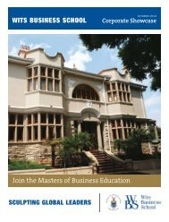 Wits Business School 2010