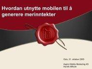 Mobile marketing og innsamling - Stiftelsen Soria Moria
