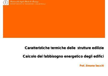 Prestazioni termofisiche edifici e calcolo carichi termici