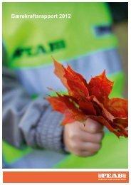 Bærekraftsrapport 2012 - Peab i Norge