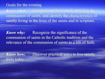 The communion of saints - St. Thomas Aquinas